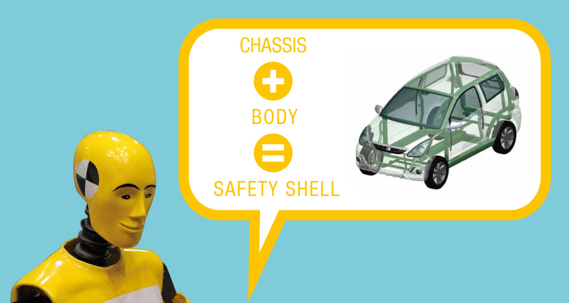 Chassis + body = safety shell